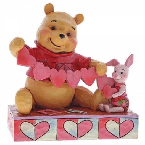 Disney Traditions Handmade Valentines Pooh & Piglet