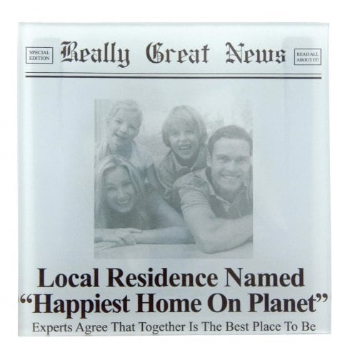 Really Great News Happiest Home On Planet Photo Frame Coaster