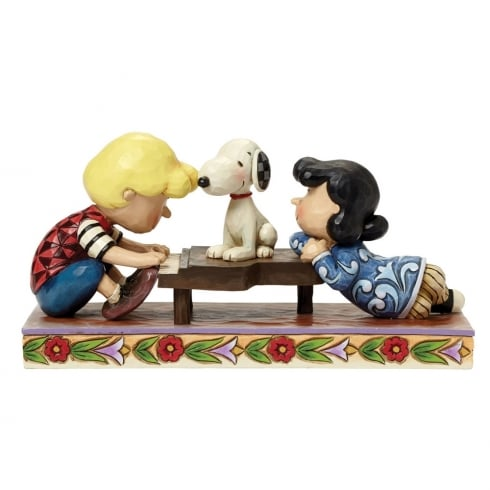 Jim Shore - Peanuts Happiness is a Favourite Song Schroeder Lucy and Snoopy Figurine