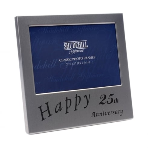 Shudehill Giftware Happy 25th Wedding Anniversary 5 x 3.5 Photo Frame