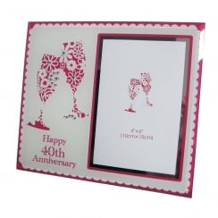 Happy 40th Anniversary Photo Frame