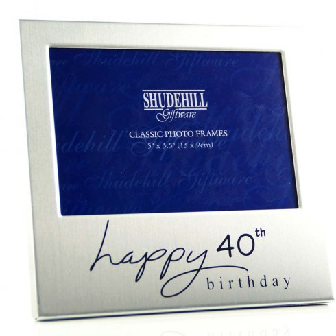 Shudehill Giftware Happy 40th Birthday 5 x 3.5 Photo Frame