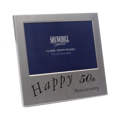 Shudehill Giftware Happy 50th Wedding Anniversary 5 x 3.5 Photo Frame