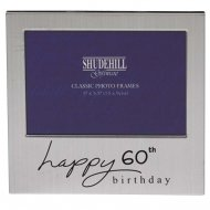 Happy 60th Birthday 5 x 3.5 Photo Frame