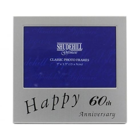 Shudehill Happy 60th Wedding Anniversary 5 X 35 Photo Frame 73560