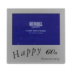 Happy 60th Wedding Anniversary 5 x 3.5 Photo Frame