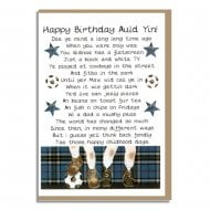 Happy Birthday Auld Yin! Scottish Memories Male Card