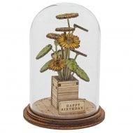 Happy Birthday Flower Figurine
