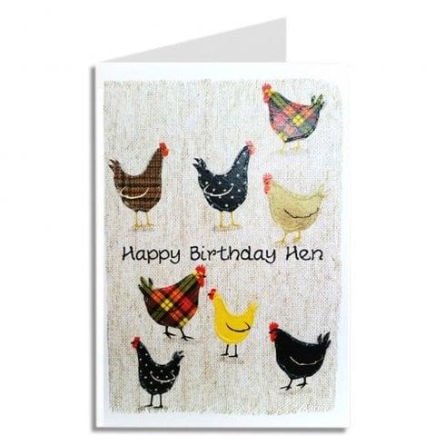 Embroidered Originals Happy Birthday Hen Scottish Card