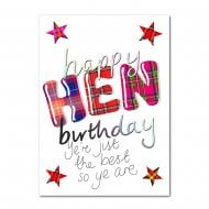 Happy Birthday Hen Yere Jist The Best Scottish Card