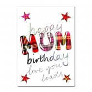 Happy Birthday Mum Scottish Card