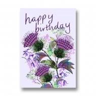 Happy Birthday - Scottish Flowers