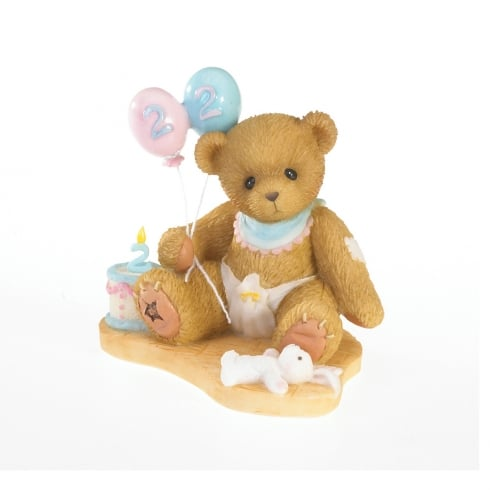 Cherished Teddies Happy Birthday Two You Figurine