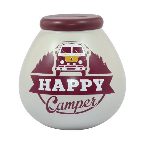 Pot of Dreams Happy Campers Ceramic Money Pot