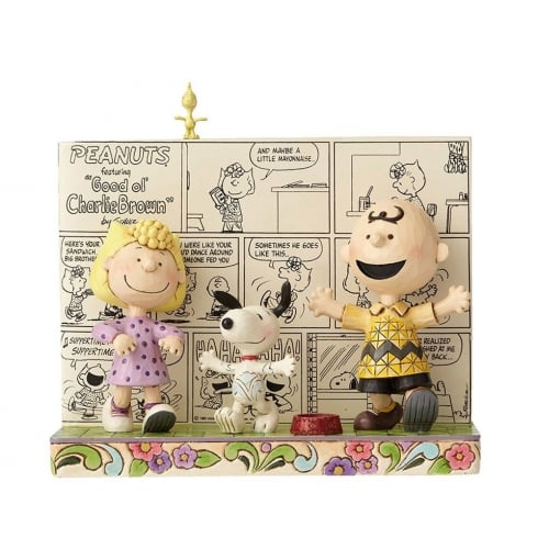 Jim Shore - Peanuts Happy Dance Classic Comic Book Figurine
