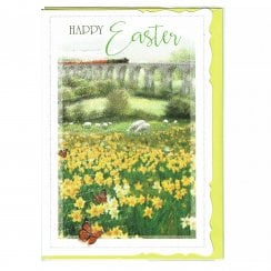 Happy Easter Meadow Greeting Card
