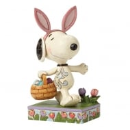 Happy Easter Snoopy with Basket Figurine