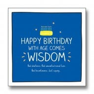 Happy Jackson - With Age Comes Wisdom Birthday Card GF8057A