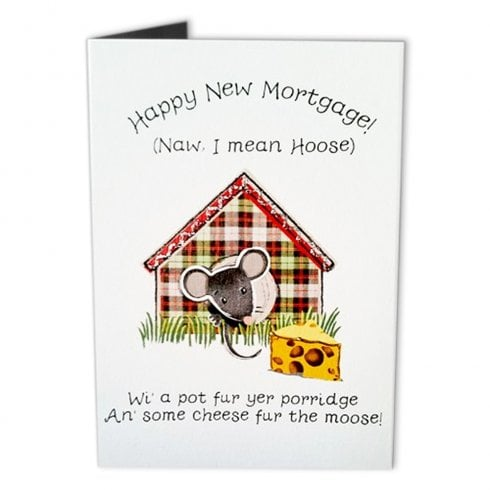 Embroidered Originals Happy New Mortgage! New Home Moose Card