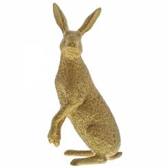 Hare Gold Figurine
