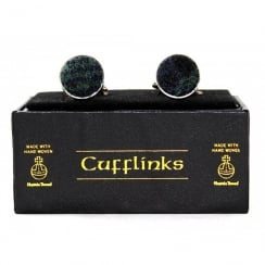 Harris Tweed Black Watch Cufflinks