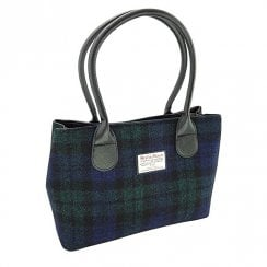 Harris Tweed Classic Bag - Cassley - Black Watch