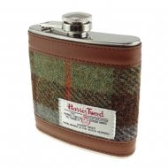 Harris Tweed Hip Flask - Gunn Tartan