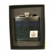 Harris Tweed Hipflask - Black Watch