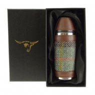 Harris Tweed Hunting Flask - Macleod Tartan