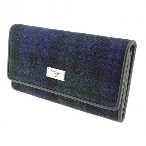 Glen Appin of Scotland Harris Tweed Purse - Tiree - Black Watch