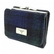 Harris Tweed Small Purse - Unst - Black Watch