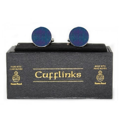 Eurostick Harris Tweed Violet Tartan Cufflinks