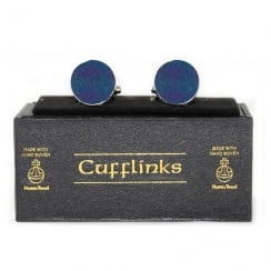 Harris Tweed Violet Tartan Cufflinks
