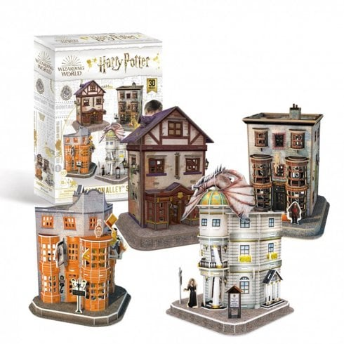 Paul Lamond Games Harry Potter Diagon Alley 4-in-1 3D Puzzle Set