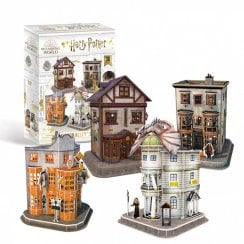 Harry Potter Diagon Alley 4-in-1 3D Puzzle Set