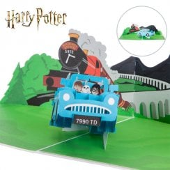 Harry Potter Ford Anglia Hand Made Pop Up Card