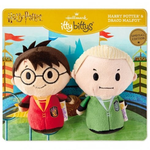 Hallmark Itty Bittys Harry Potter Quidditch Pair Harry and Draco Special US Edition Set