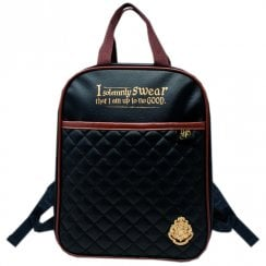 Harry Potter Quilted Childrens Backpack - Black & Tan