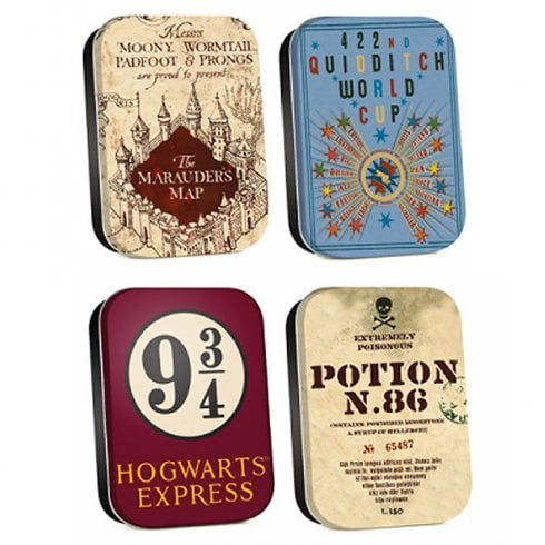 Half Moon Bay Harry Potter Timeless Tins Set Of 4 Map
