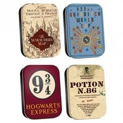 Harry Potter Timeless Tins Set Of 4 Map