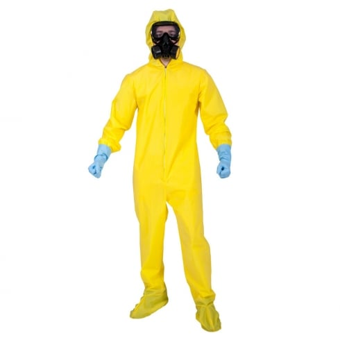 Wicked Costumes Hazmat Suit w Deluxe Mask & Gloves (S)
