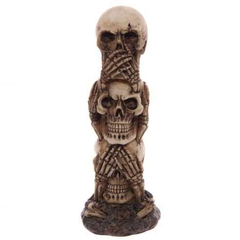 Puckator Hear No Speak No See No Evil Skull Totem