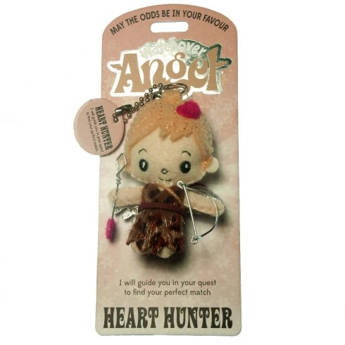 Watchover Angels Heart Hunter Angel Keyring