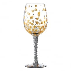 Heart of Gold Wine Glass