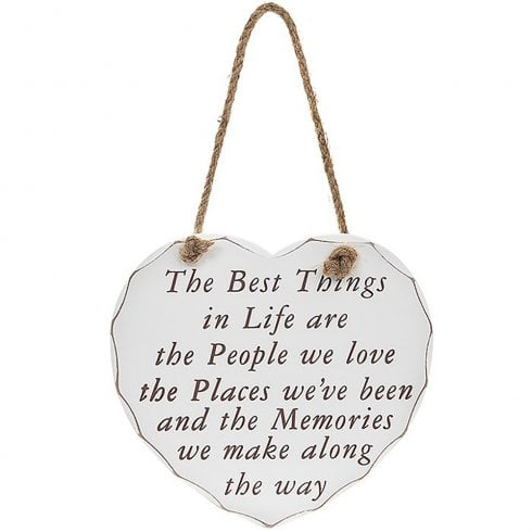 Leonardo Collection Heart Plaque Best Things In Life