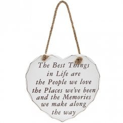 Heart Plaque Best Things In Life