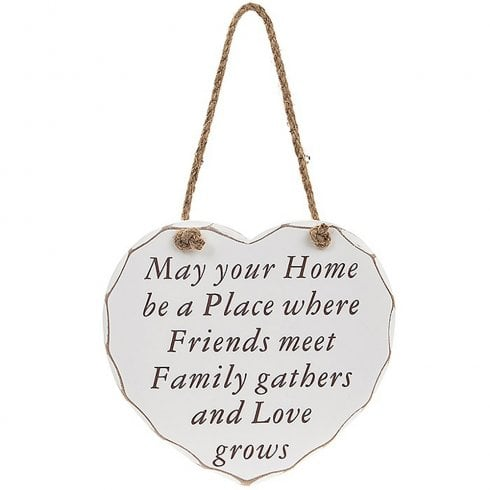Leonardo Collection Heart Plaque May Your Home