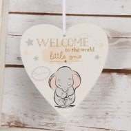 Heart Wall Plaque - Welcome To The World