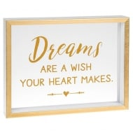 Heartfelt Sentiments Dreams Are A Wish Your Heart Makes Freestanding Plaque