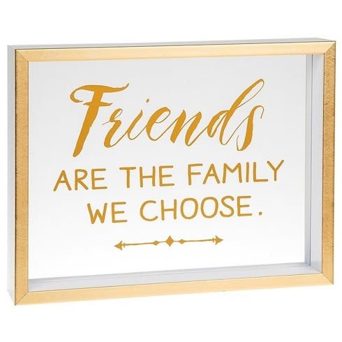 Shudehill Giftware Heartfelt Sentiments Friends Are The Family We Choose Freestanding Plaque